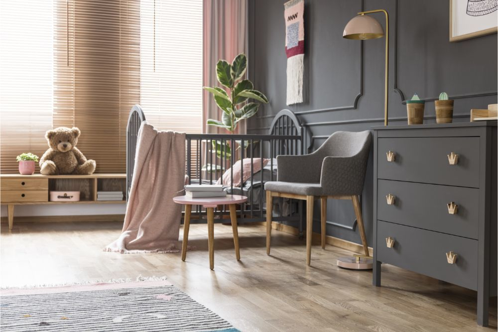 classic baby room interior